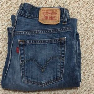 Blue Levi denim jeans